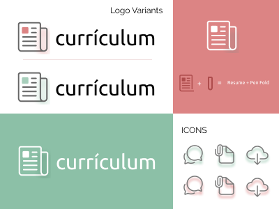 currículum - Resume Generator (Logo & Icons) web minimal website ui typography type logo design branding art