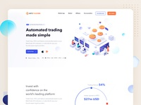 Mt2Trading ||  Landing Page faq faqs pricing plan graphs statistics bitcoins startup uiux ui ux agency illustration landing page flat clean minimal product design