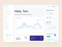 Capture.club || Dashboard app design character analytics card dashboard design dashboard skill carbon fiber ux ui clean flat minimal