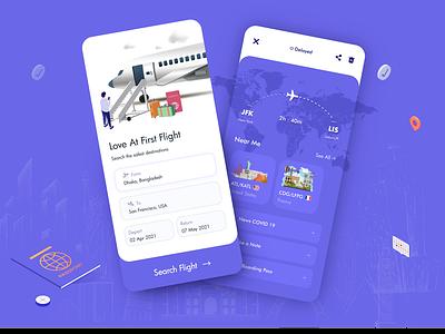 Flight Ticket Booking App flight app booking plane travel airplane booking app flight search booking system boardingpass branding flat clean minimal