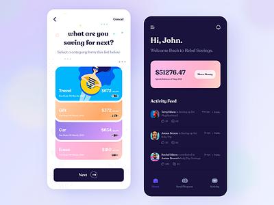 Mobile App UI | Banking mobile ui ios mobile design fintech bank finance app app design debit wallet payment payment app bankingapp banking financial app