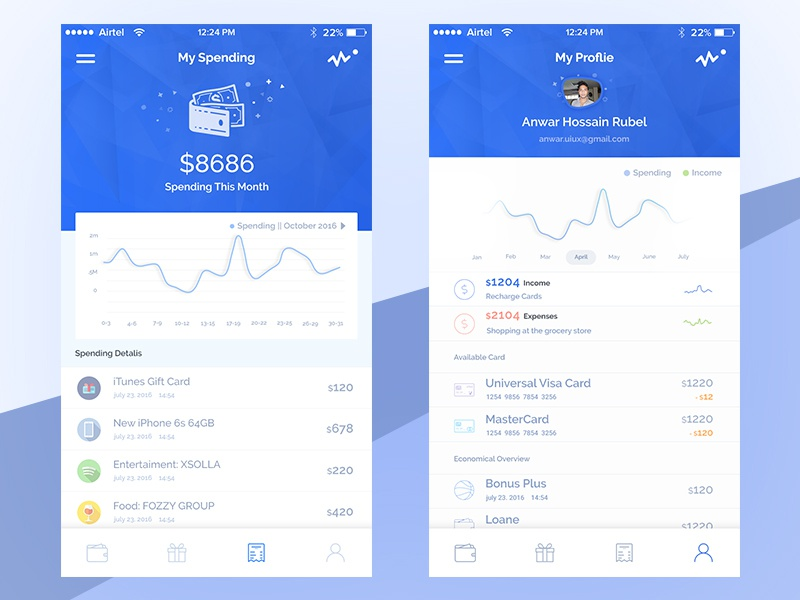 e-Payment epaymen banking credit card payment ui ux wallet iphone card pay store interface