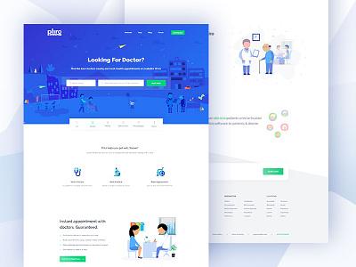 Doctor || Landing Page creative gradient  color integration uidesign   webdesign webpage ui ux white clean light web website minimal doctor landing page