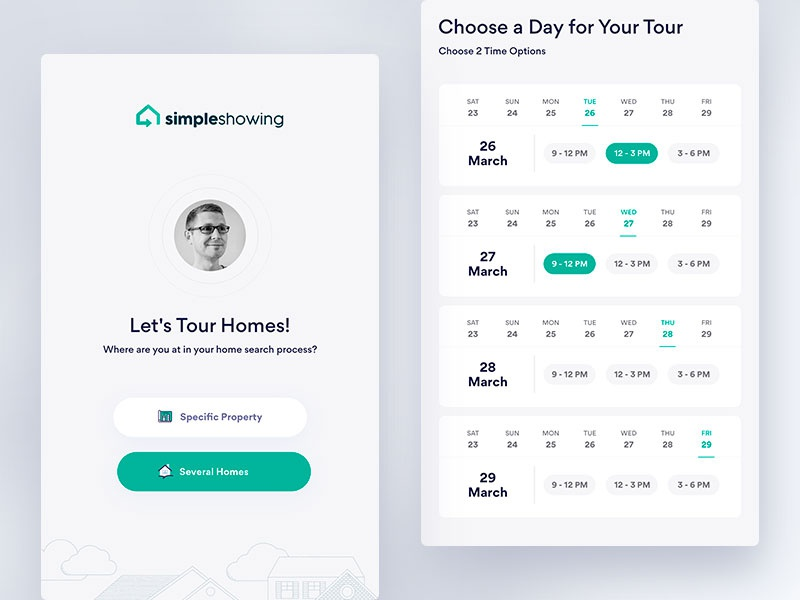 Real_Estate & Mortgage real estate wireframe ux ui mobile mortgage ios inspiration color cards application