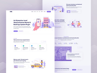 R&B     Landing Page uiux trend startup software house minimal landing page flat color clean business agency