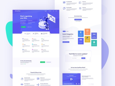 Userplace startup software house payments monetize minimal landing page illustration design create plans clean business agency