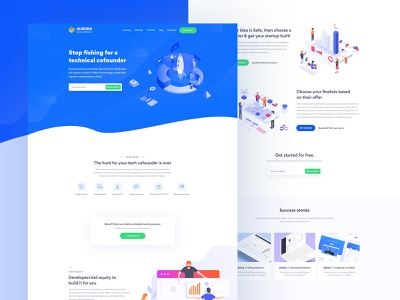 Landing Page trends 2019 trends ui logo illustration startup business flat clean 2018 2019 webdeisgn web software house minimal landing page illustration agency landing page concept landing page design landing page