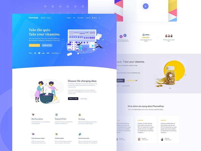 E-commerce  |  Landing page webdesign e-commerce design e-commerce app e-commerce theme e-commerce shop e-commerce product landing page uiux typography app design illustrator cc illustration icon flat flat  design colorful branding
