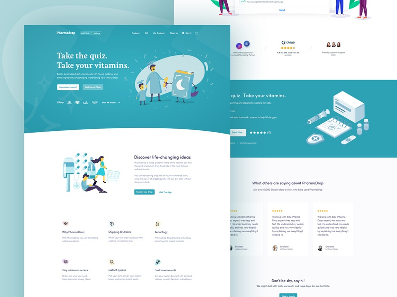 E-commerce  |  Landing page branding colorful flat  design flat icon illustration illustrator cc design app typography uiux landing page product e-commerce e-commerce shop e-commerce theme e-commerce app e-commerce design webdesign