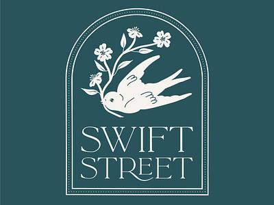 Swift Street Housewares Logo bird logo design branding design logo drawing design vector typography graphic design illustration branding
