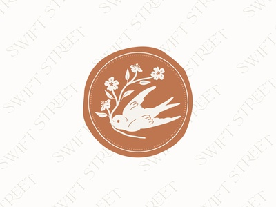 Swift Street Pattern and Badge illustrator bird drawing logo design logo design branding vector illustration graphic design