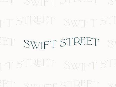 Swift Street Type Pattern pattern logo minimal typography illustration vector branding graphic design