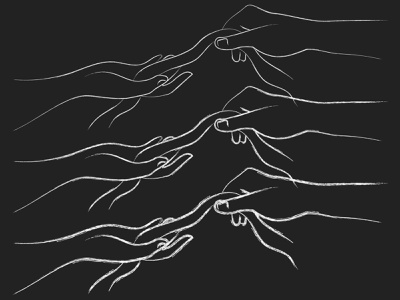 Hands Holding Ribbon Illustration hand white black ribbon doodle illustrator sketch pencil drawing black and white hands line art minimal vector illustration