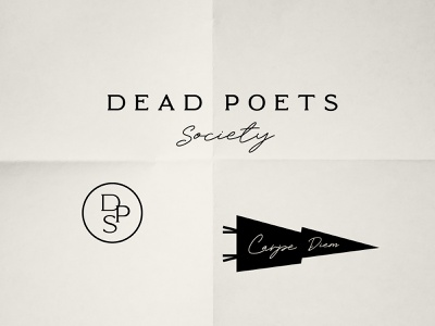 Dead Poets Society rebranding illustration design minimal vintage black and white carpe diem typography vector rebrand design challenge dead poets society visual design visual identity brand branding graphic design logo