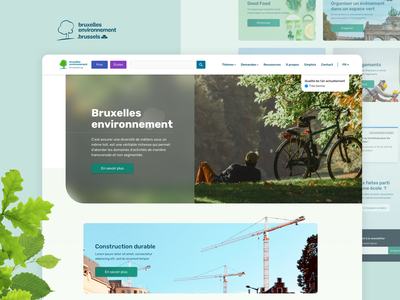 Bruxelles Environnement • New portal nature minimal web ux brussels design ui web design