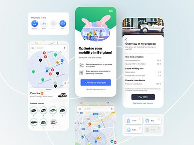 Mobility app belgium web ui transport mobility web design mobile ui app design