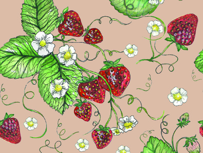 Strawberry_pattern design