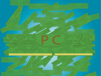 pc memory dribbble technology green pc memory computer vector illustration design art illustrator design