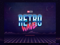 80s Text Effects - 10 PSD