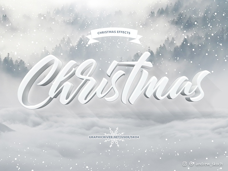 Christmas Text Effects holiday christmas type typography art christmas typography new year card new year 2019 new year winter christmas