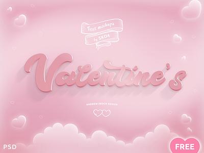 FREEBIE - Valentines PSD Mockup vol.2 text effect valentines mockup valentine love card free freebie free psd