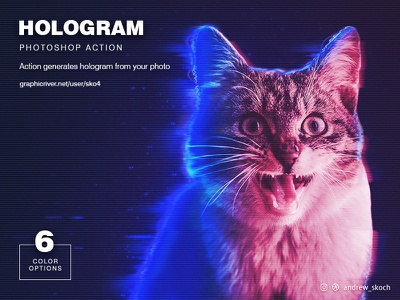 Hologram Photoshop Action cat starwars battlefront 2 battlefront star wars holographic holo holorgam photo effect atn photoshop action