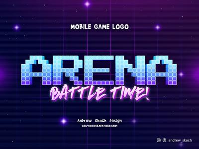 ARENA - Mobile Game Logo text effect game logo logo app design art game mobile app ios andriod