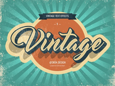 Vintage Text Effect vintage effect vintage style text effects psd typography lettering art photoshop text effect retro vintage