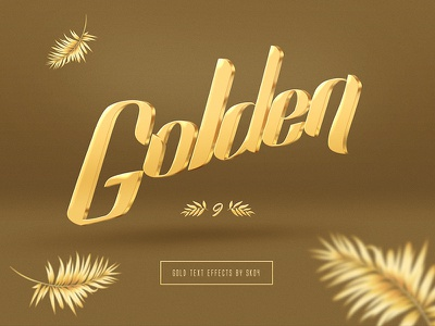 Gold - Photoshop Text Mockups palm lettering typography gold typography mockup text effect download golden goldy gold