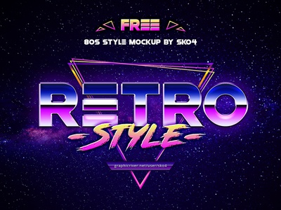 80s Retro Vibe - FREE Text Effect Photoshop photoshop freebie free retrofuturism retro synthwave typography text effect 80s style 80s