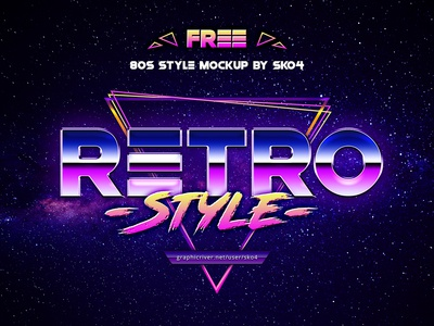 80s Retro Vibe - FREE Text Effect Photoshop photoshop freebie free retrofuturism retro synthwave typography text effect 80s style 80s
