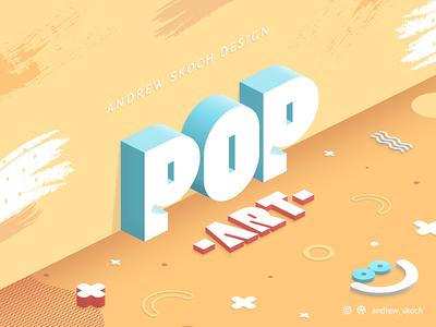 Pop Art Text Effect 3d art pop andrew skoch pastel popular trend text effect memphis design memphis style memphis pop art