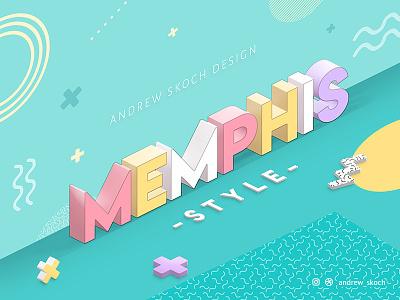Memphis Text Effect design andrew skoch text effect pastel colorful 1980s 80s pop art memphis 3d text 3d