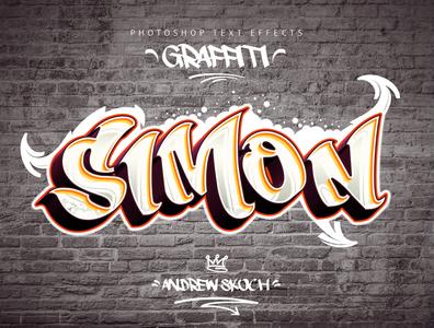 Graffiti Text Effects - 10 PSD - vol 1 tag text effect lettering illustration typography graphic design street art streetart grunge graffity art graffity graffiti art graffiti