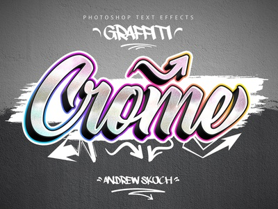 Chrome shot - Graffiti Text Effects street art graffiti digital graffiti art graphicdesign graffity graffiti mockup photoshop illustration typography lettering text effect tag