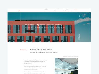 Real estate website gain ux ui website realestate spain typogrphy grid simple