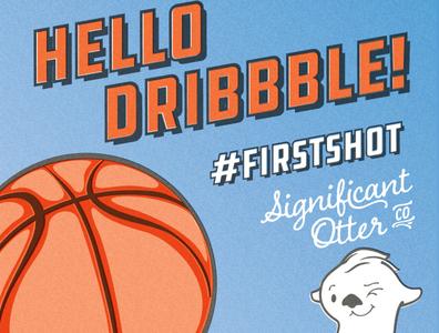 Hello Dribbble! design illustration illustrator cc risograph firstshot risography