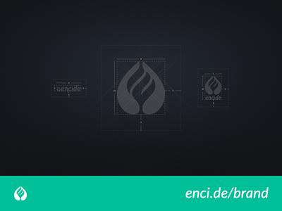 Encide Logo Construction Grids