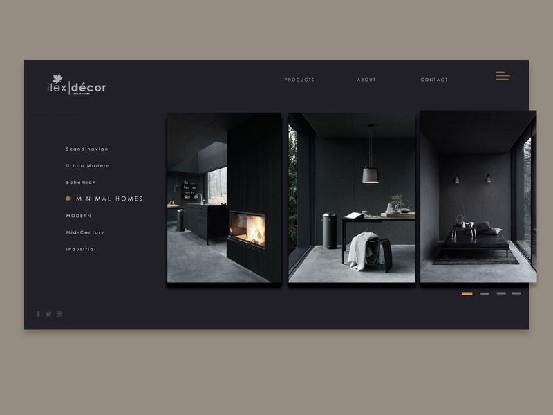 Minimal Furniture Store furniture furniture store webdesign clean decor black minimal minimalist
