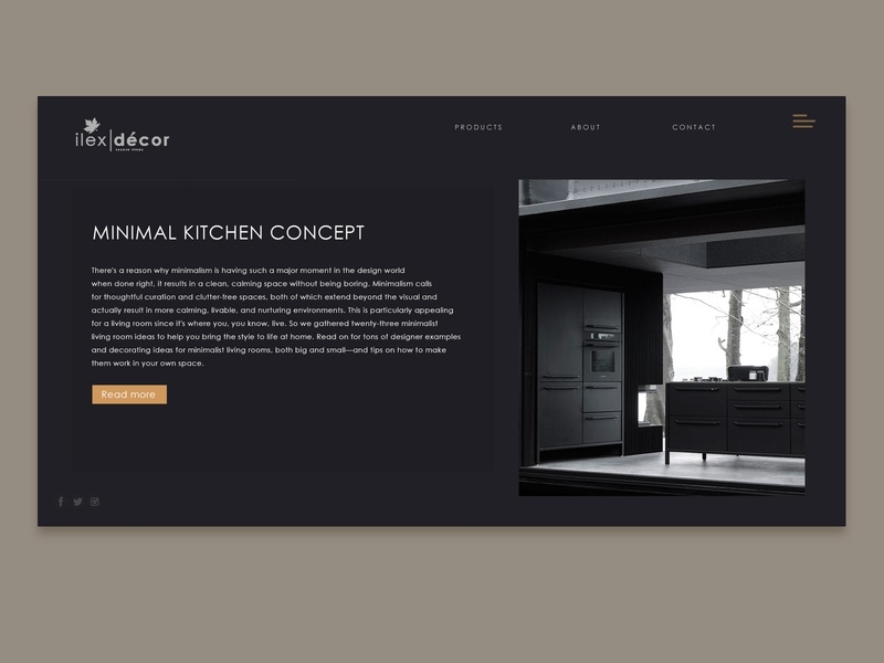 Minimal Furniture Store minimalism blackui design black decor furniture store clean webdesign minimalist minimal