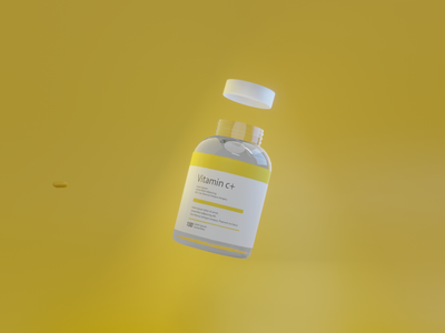 Drug bottle graphic design branding design 3d