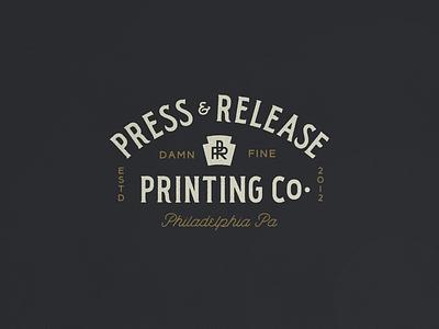 Press & Release N° 001 screenprinting screenprint pennsylvania philadelphia heritage timeless vintage typography
