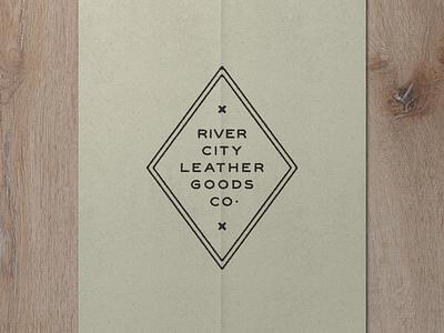 Nº 002   Jessie Jay Design For River City Leather sans-serif vector design seal badge heritage lockup antique signpainting timeless retro branding identity logo philadelphia typography vintage