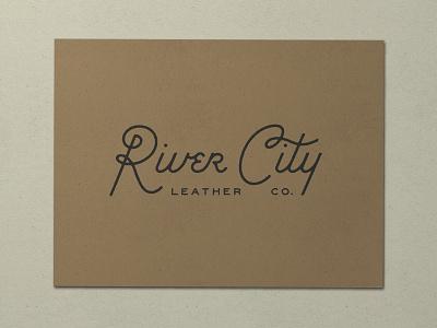 Nº 003   Jessie Jay Design For River City Leather vector design seal badge heritage lockup antique signpainting script timeless retro branding identity logo philadelphia typography vintage