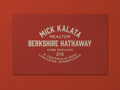 Nº 008   Jessie Jay Design For Mick Kalata businesscard serif block letter vector design seal badge heritage lockup antique signpainting timeless retro branding identity logo philadelphia typography vintage