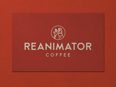 Nº 010   Jessie Jay Design For Reanimator Coffee icon design vector illustration seal badge heritage lockup sans-serif signpainting antique timeless retro branding identity philadelphia logo typography vintage