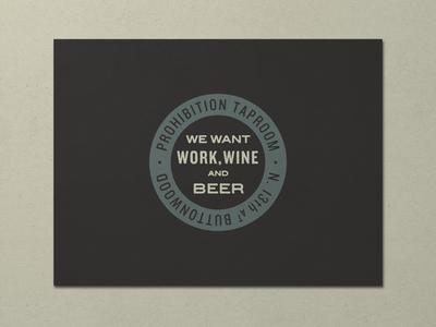 Nº 017   Jessie Jay Design For Prohibition Taproom