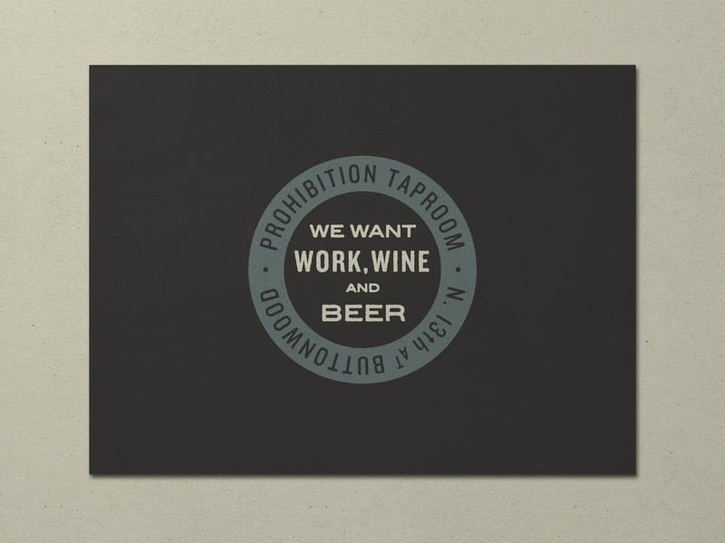 Nº 017 | Jessie Jay Design For Prohibition Taproom vector design seal badge heritage lockup sans-serif signpainting antique timeless retro branding identity philadelphia logo typography vintage