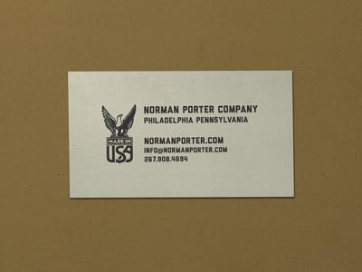 Nº 022 | Jessie Jay Design For Norman Porter