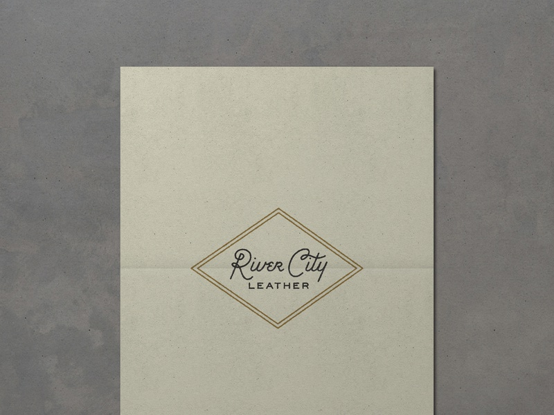 Nº 023 | Jessie Jay Design For River City Leather design vector seal badge lockup heritage script sans-serif signpainting antique timeless retro branding identity philadelphia logo typography vintage